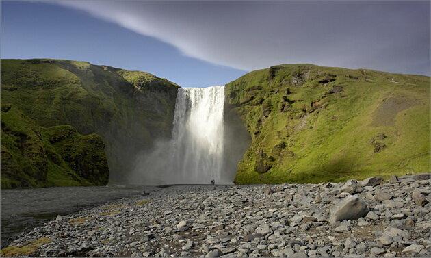 Водопад Скогафосс. Исландия