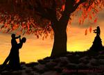 Autumn dance of love