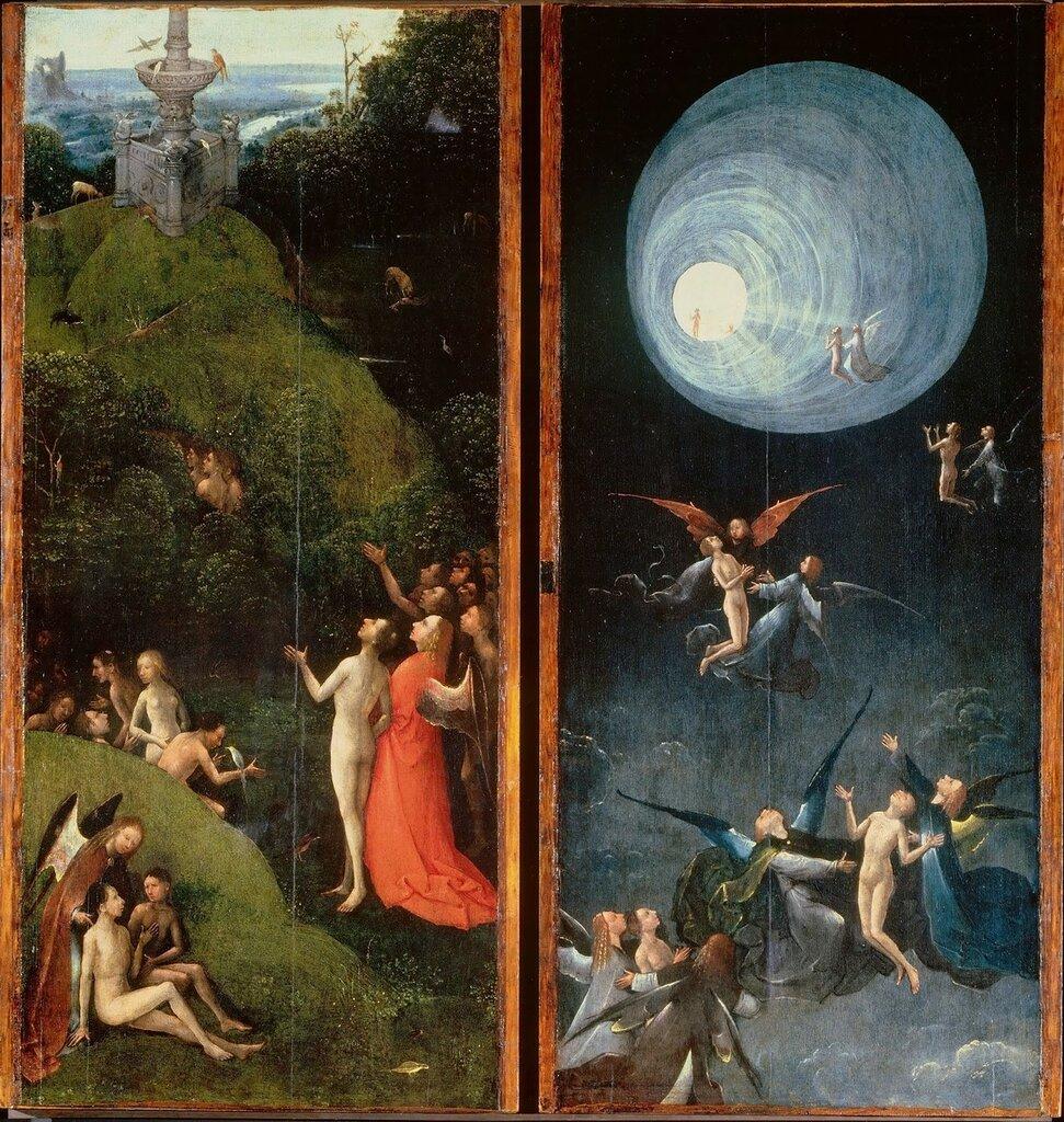 16.2.Четыре фрагмента (ок.1490-1500) (Венеция, Палаццо Дукале). Земной рай + Вознесение в Империал.jpg