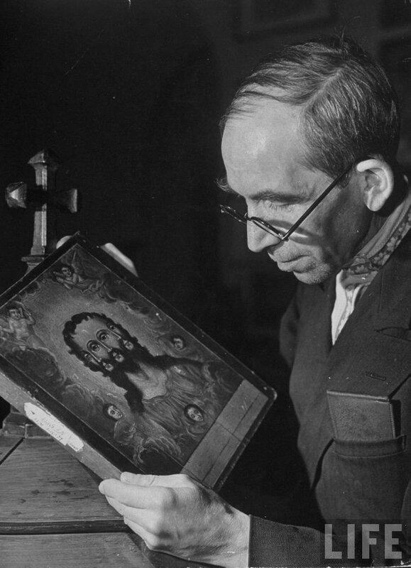 rare old Russian Orthodox ikon of a three-faced Christ 1941.jpg