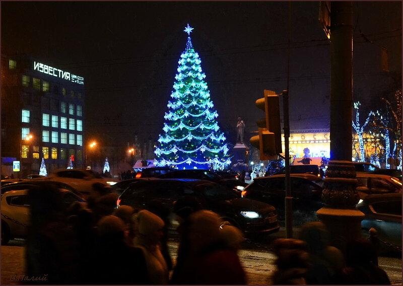 Пушкинская площадь. Рождество!