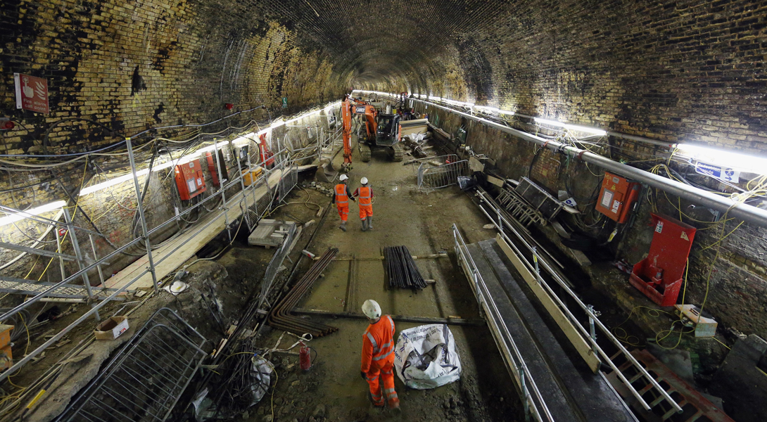 Самый масштабный в истории тоннель метрополитена продолжает строиться в Лондоне и его пригородах. Ок