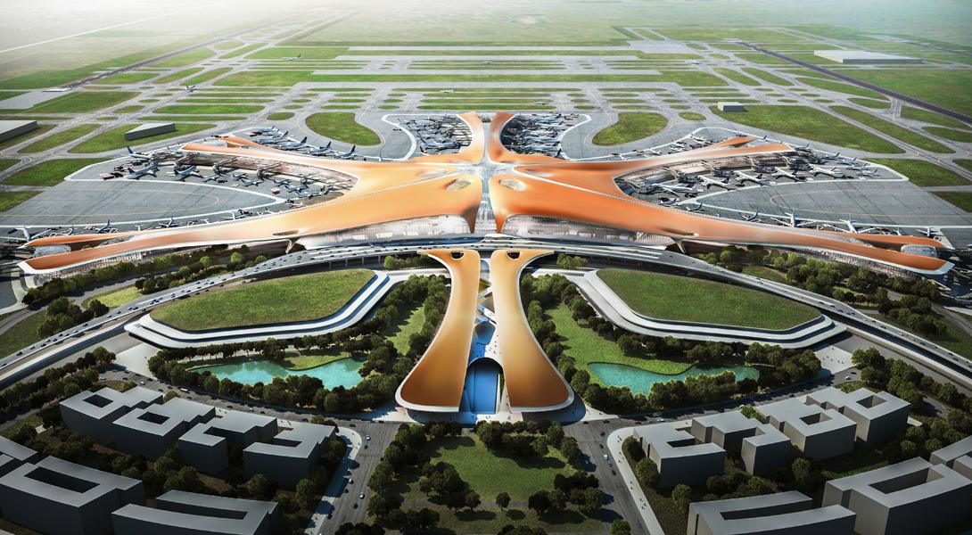 Став самым большим по площади терминалом Китая, Пекинский аэропорт является одним из крупнейших терм