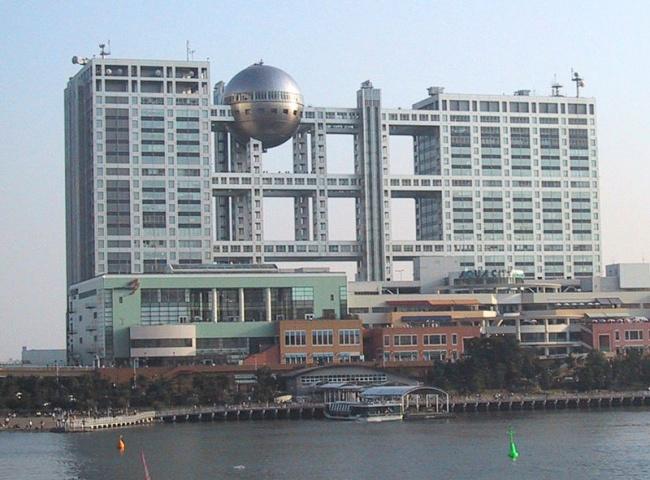 Здание Fuji TVвЯпонии.