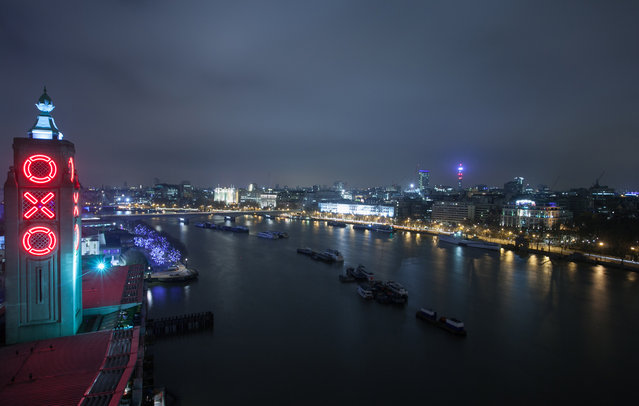 King's Reach Tower, Southwark. A view of the Oxo Tower and the Thames. (Photo by Winch)