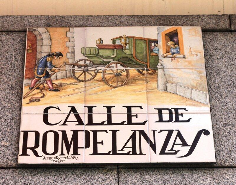 Мадрид (Madrid), Calle de rompelanzas