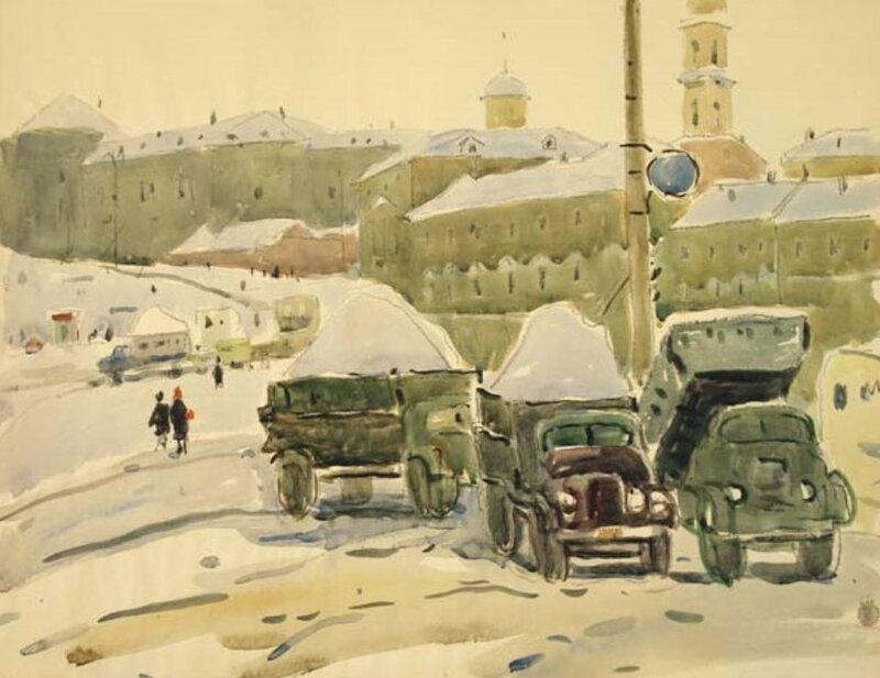Москва в акварели Ромодановской А.А
