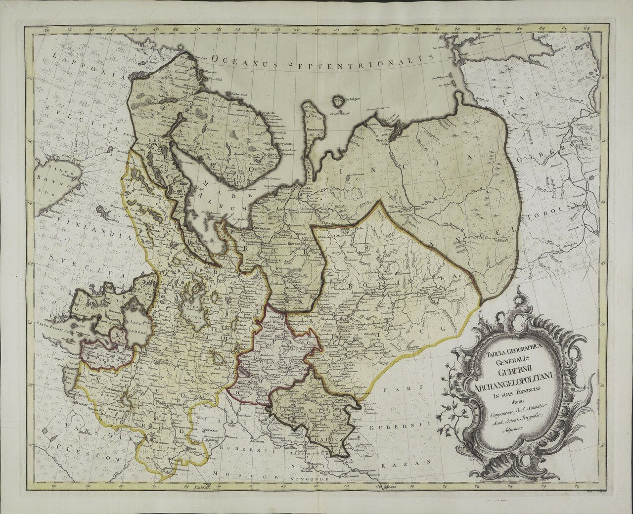 1750. Карта Архангельской губернии