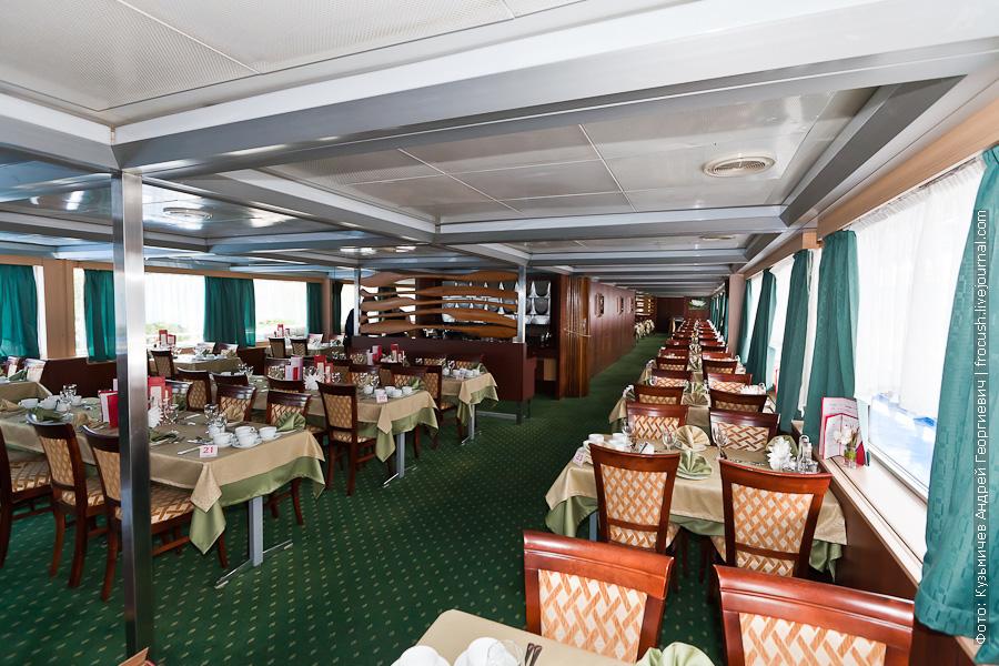 теплоход Александр Пушкин шлюпочная палуба ресторан