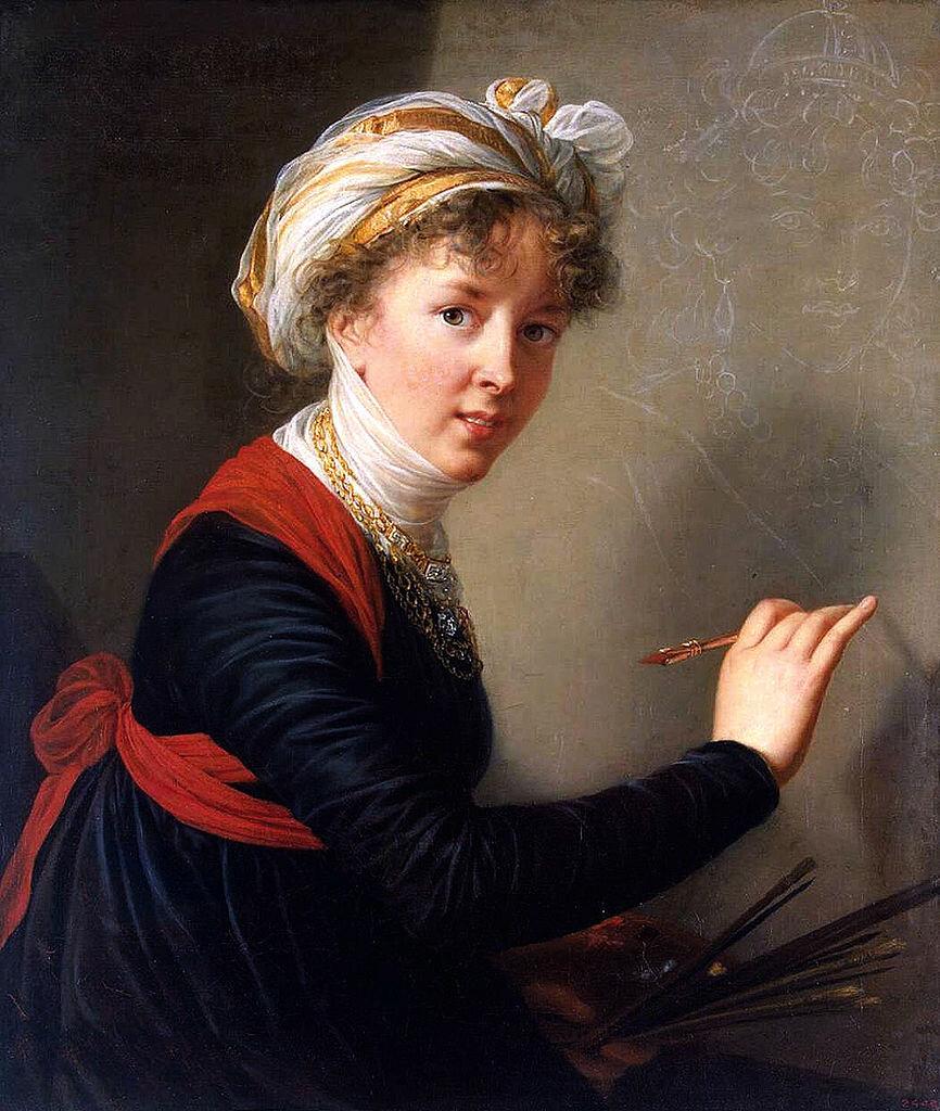 Автопортрет, 1800, масло,Мари Элизабет Луиза Виже-Лебрён (1755–1842),  Государственный Эрмитаж, Санкт-Петербург