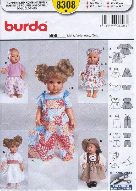 Одежда для кукол.Выкройка