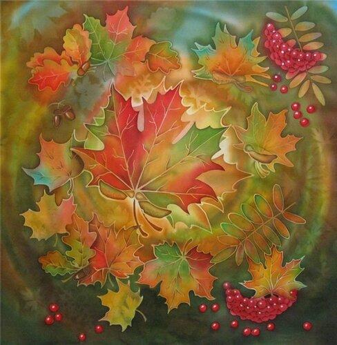Фет осень