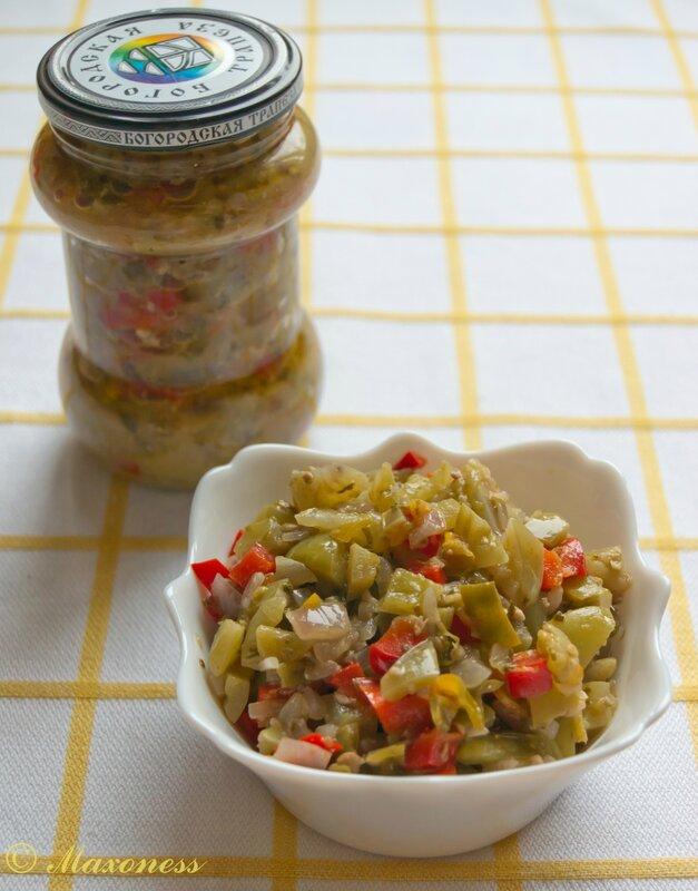 Зимний салат из зеленых помидоров. Грузинская кухня