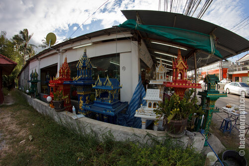spirit houses market at Koh Samui