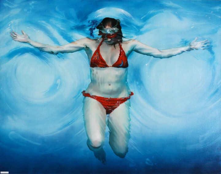 Sarah Harvey. Девушка под водой 17