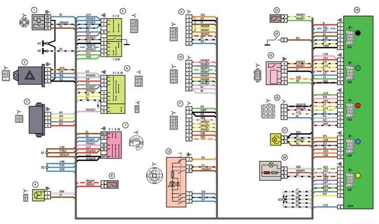 ваз 21074 инжектор схема
