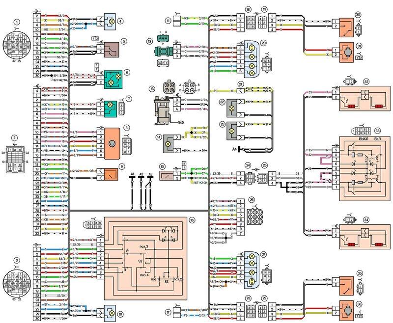 Электрическая схема ваз 21214