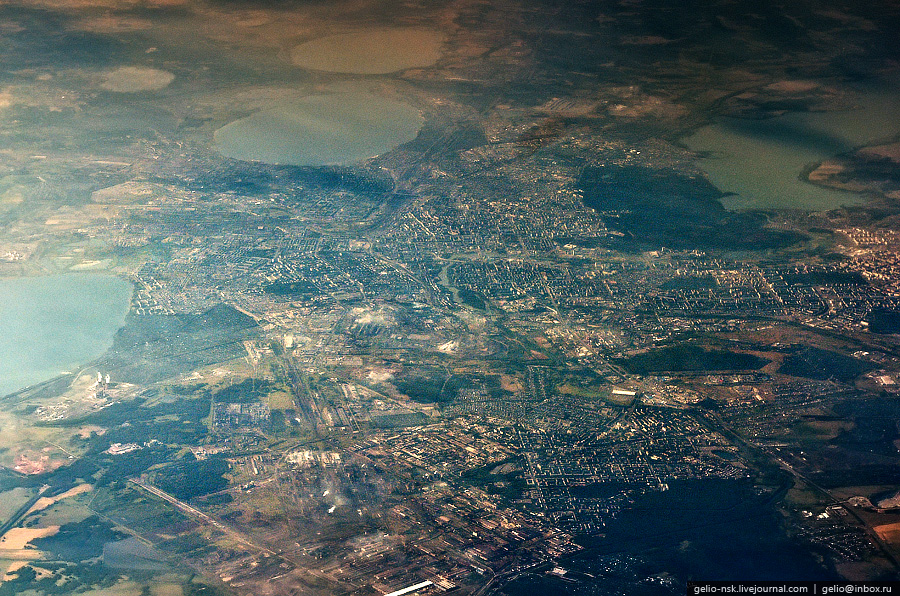 Челябинск. Фотографии из окна самолета