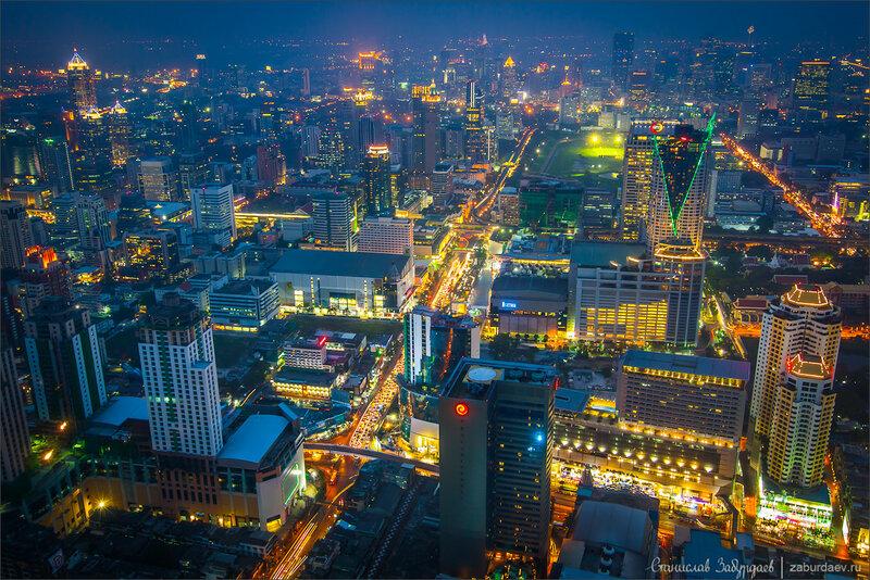 Вид с небоскреба Baiyoke Sky Tower в Бангкоке