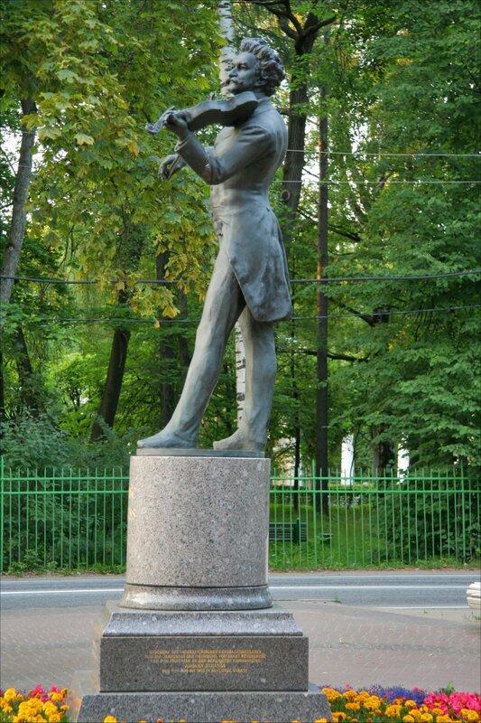 Павловск, памятник Иоганну Штраусу