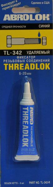 Фиксатор резьбы Abro средней фиксации (синий)TL-342, 6мл