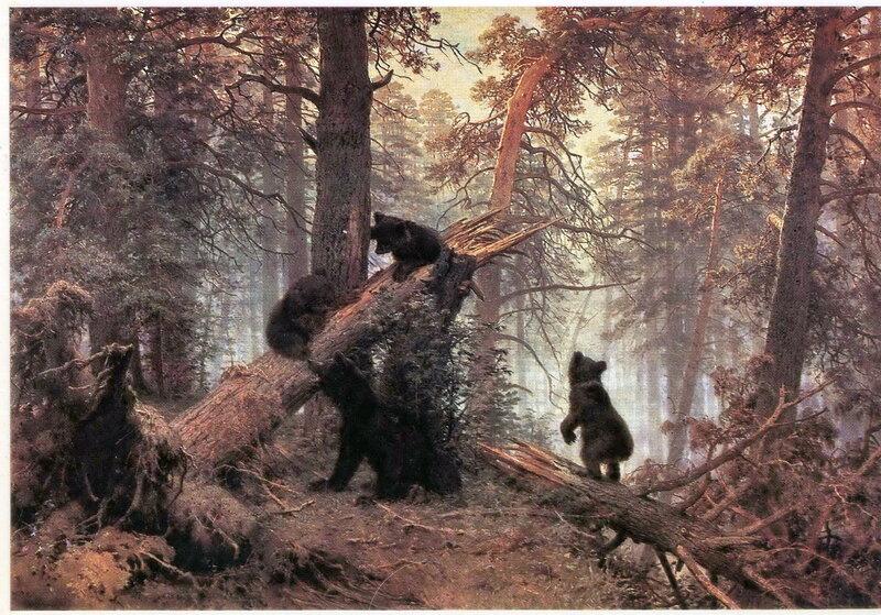 Шишкин Утро в сосновом лесу. 1889