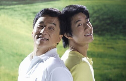 Джеки Чан с сыном