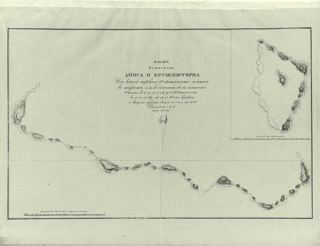 05. План островов Динса и Крузенштерна. Апреля 1816 года