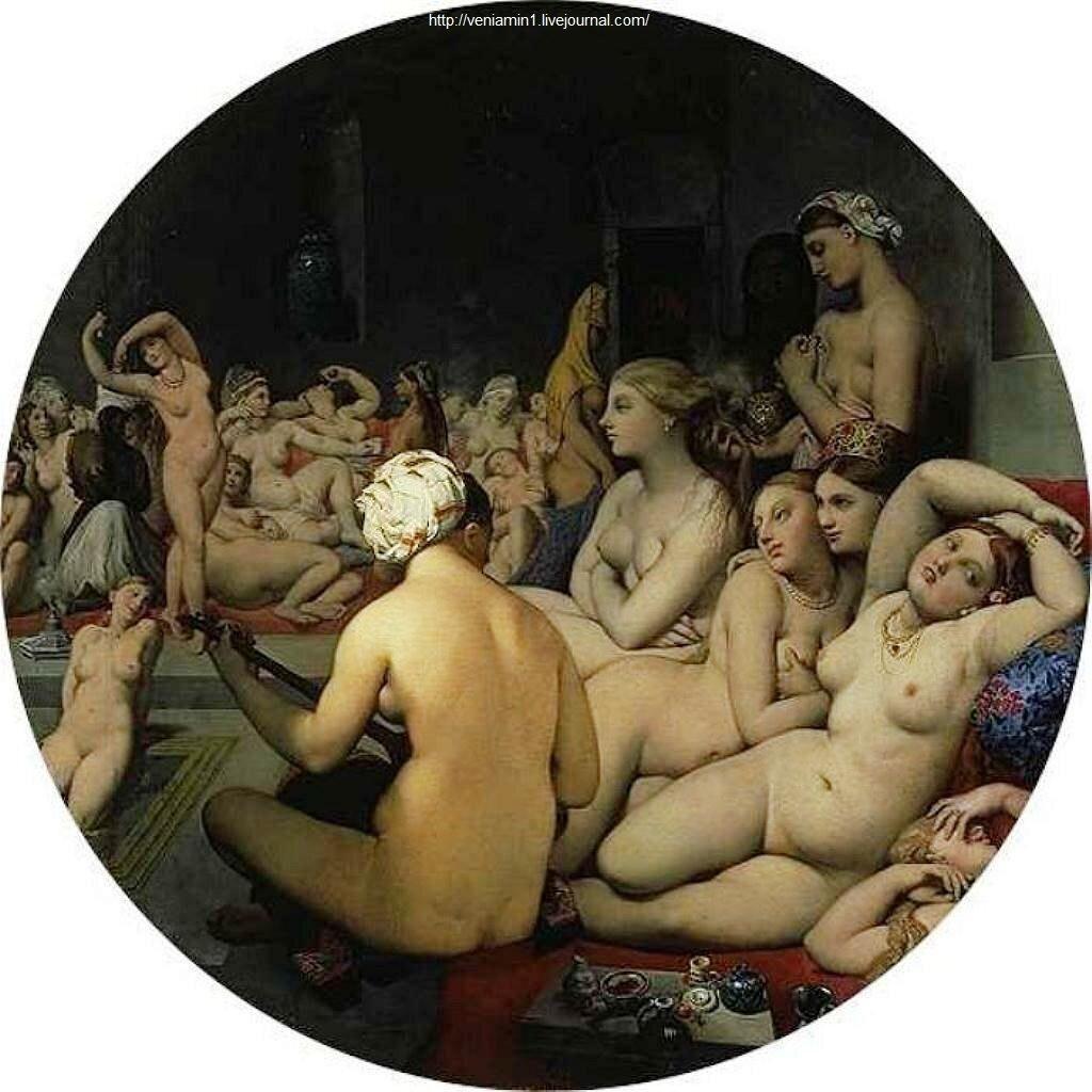 Турецкая баня,1862, Энгр, Жан Огюст Доминик, (1780-1867)_The Turkish Bath, Jean Auguste Dominique Ingres(1780-1867)