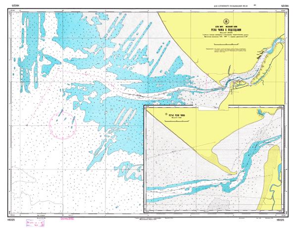 Река Чижа с подходами - морские навигационные карты на lenv.ru