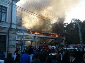 Крупный пожар в центре Кишинёва