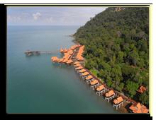 Малайзия. Лангкави. BerjayaLangkawi_Premier_Chalet_On_Water_-_Aerial_View