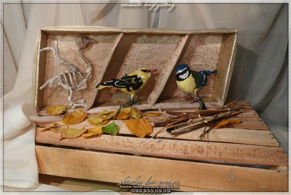 птички из ткани, текстильные птички