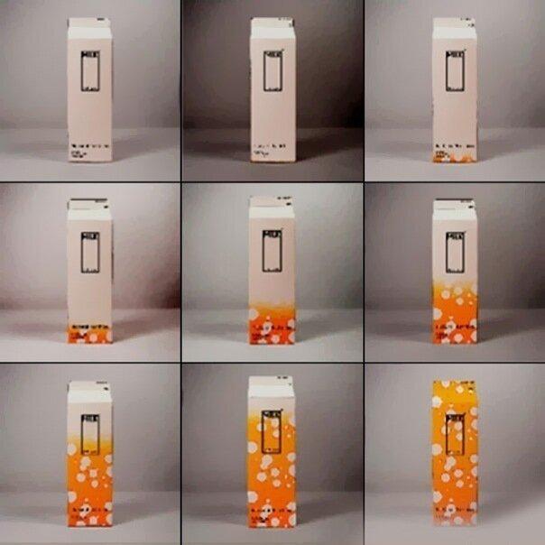 Упаковка молока, которая меняет цвет когда истекает срок годности.