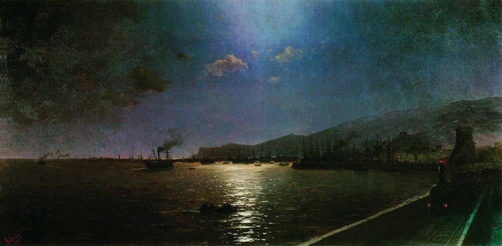 Первый поезд в Феодосии. 1892.jpg