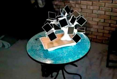 Солнечное дерево бонсай для зарядки гаджетов