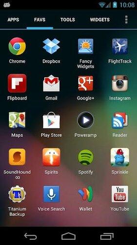 Лончер Apex Launcher Pro на Android OS