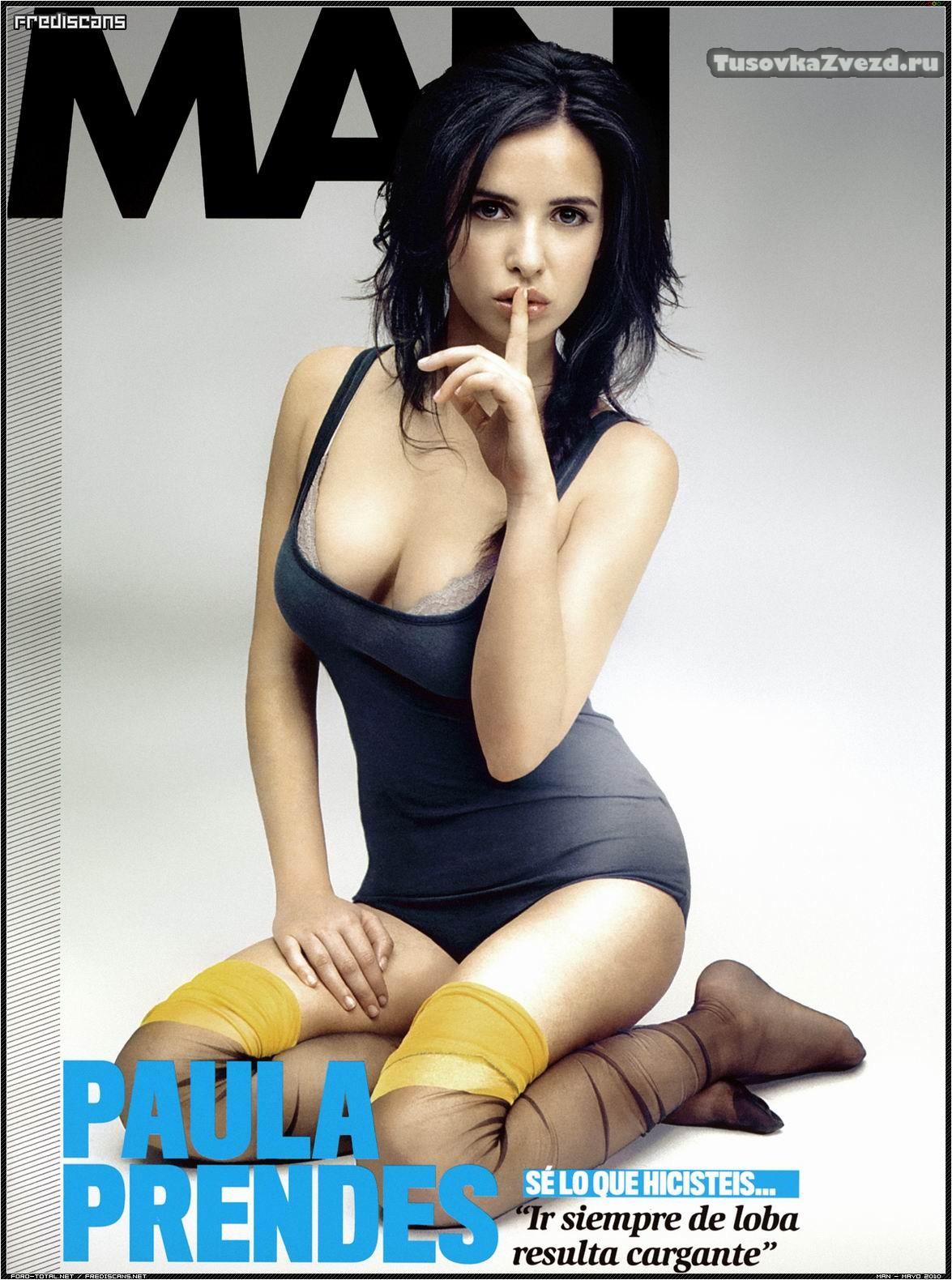 Паула Прендес (Paula Prendes) голая, фото сессия для журнала Man Испания, май 2010