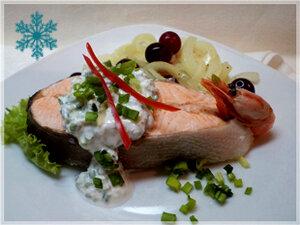 Форель!!! Новогодняя!!! Сервировка блюда