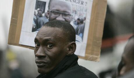 FRANCE PARIS ILLEGAL IMMIGRANTS PROTEST
