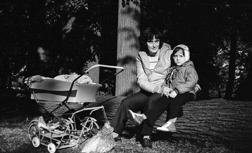 С мамой в парке на Филях