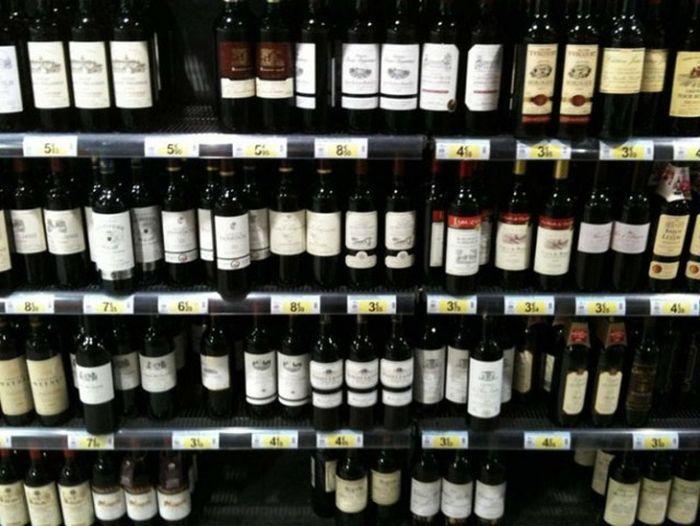 Бутылку самого дешевого вина производства Франции, Испании или Италии