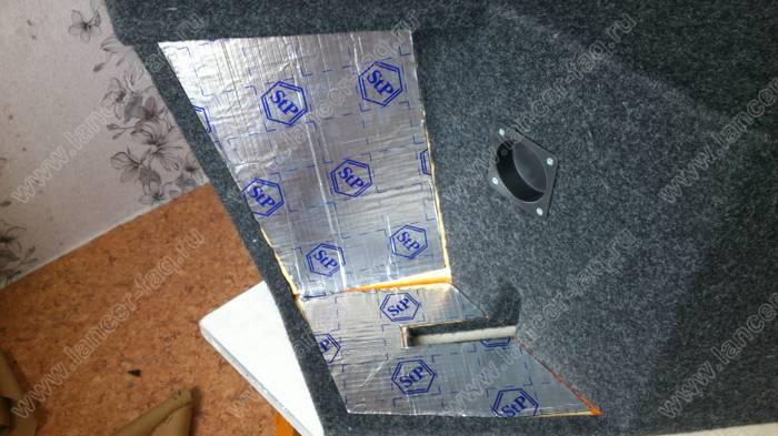 Изготовление короба сабвуфера в крыло Lancer 9