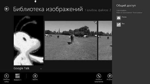 Рис. 3.20. Приложения, которые могут принять фотографии