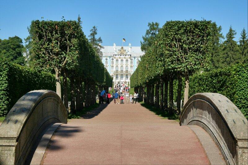 Екатерининский дворец, Царское Село, Эрмитажная аллея