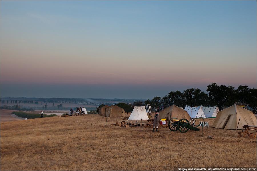 Утро в лагере русских войск, 1854 год