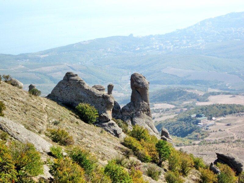 Группа скал в Долине Привидений