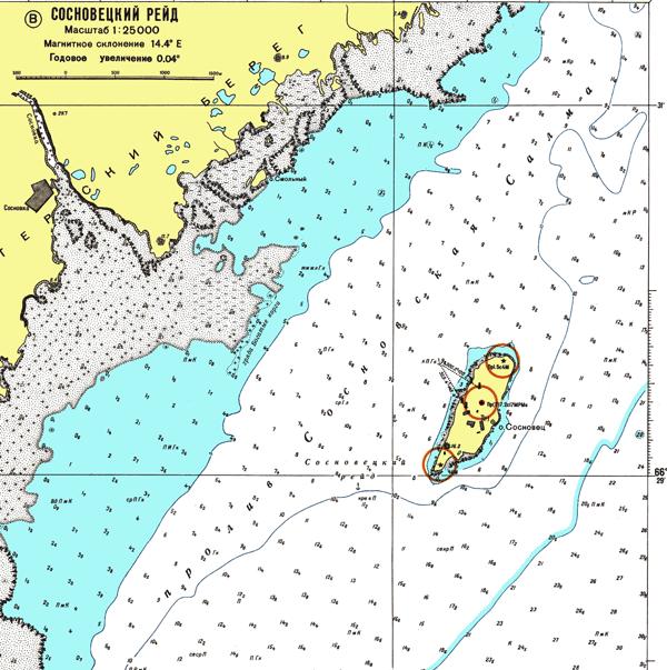 Сосновецкий рейд - морские навигационные карты на lenv.ru