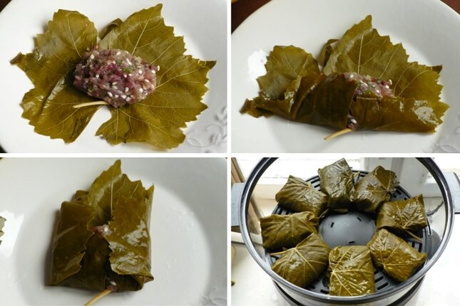 Рецепт голубцов из листьев винограда