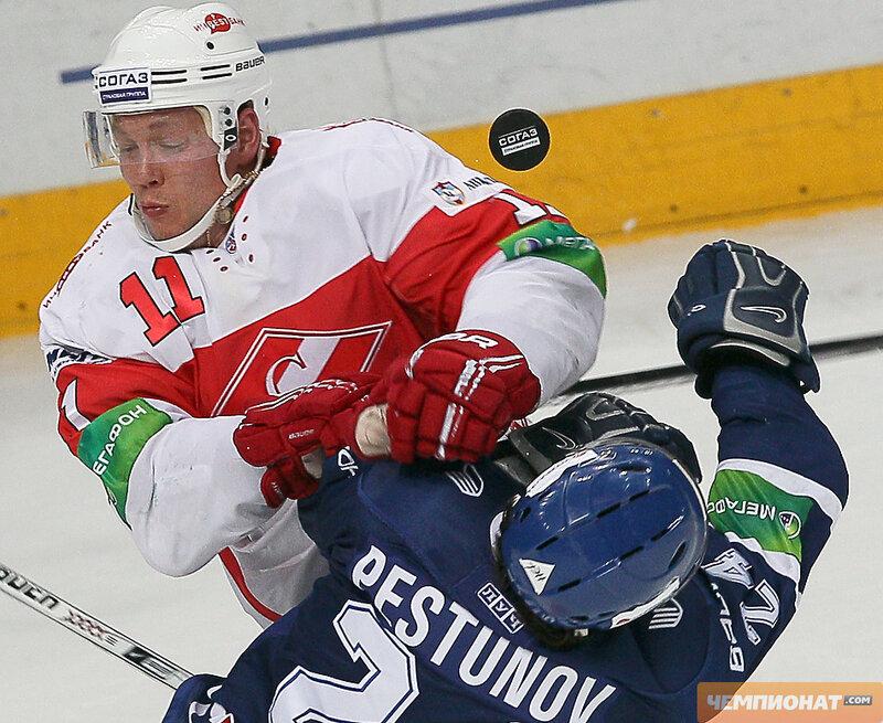 «Динамо» vs «Спартак» 5:2 чемпионат КХЛ 2012-2013 (Фото)